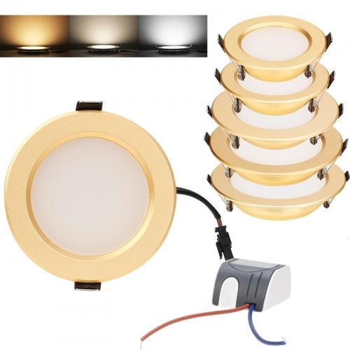RANPO LED Ceiling Lights Matte Light Guide Plate 3W 5W 7W 9W 12W Recessed Downlight