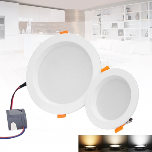 RANPO LED Round Downlight 5W 7W 9W 12W 18W 30W Recessed Lamp With LED Driver 220V