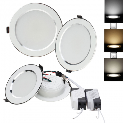 Ranpo LED Downlight 3 Colors Recessed Ceiling Fixture 18W 15W 12W 9W 7W 5W 3W Lamps