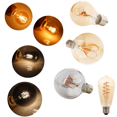Ranpo Vintage Retro Edison LED Filament Light Bulbs E27 4W 5W 6W 220V home decor Lamp