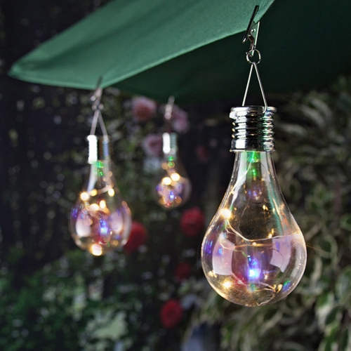Ranpo Hanging Solar LED Light Bulb Rotatable Outdoor Garden Camping Waterproof Lamps