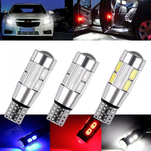 Ranpo 2x T10 Car Side LED Light Bulbs Canbus Error Free Xenon 10 SMD LED 501 W5W WEDGE