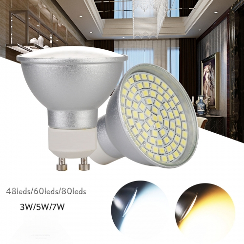 Ranpo GU10 LED Spotlight Bulbs 3W 5W 7W 2835 SMD Energy Saving Lamp Light 220V ST472