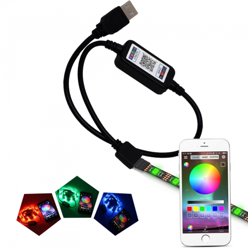 Ranpo Bluetooth USB Controller For RGB LED Strip Light Smart Phone App Control RH491