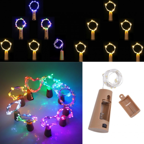 Ranpo 10 20 30 LED Copper Wire String Light Cork Shaped Wine Bottle For Xmas Decor RH4