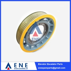 Mitsubishi EM2470 Elevator Traction Sheave Drive Pulley