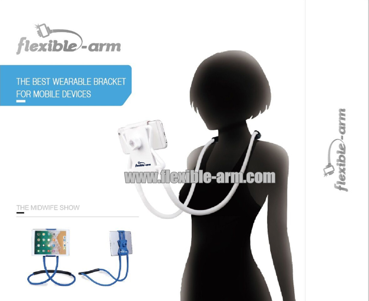 Flexible Long Arms Lazy Wearable Bracket for Mobile Devices