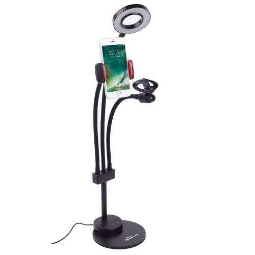 Selfie Ring Light Video Chat with Microphone Holder for Live Stream
