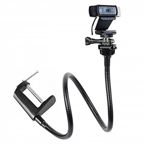Flexible gooseneck for webcam holder