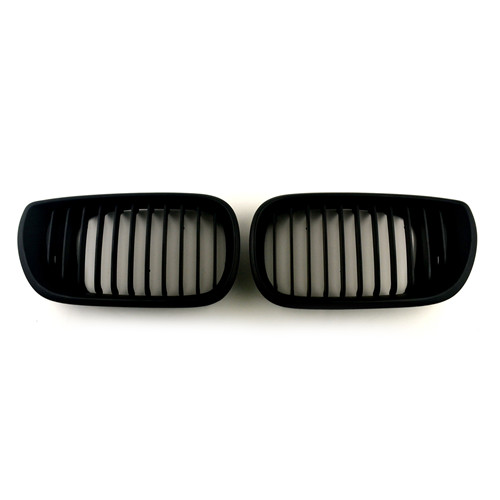 BMW Matte Black Front Kidney Grills for 3 Series E46 Sedan Touring 4-door