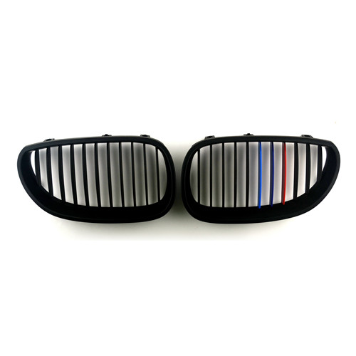 BMW Matte Black Front Kidney Grills for 5 Series E60 E61