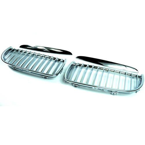 BMW Chrome Front Kidney Grills for 3 Series E90