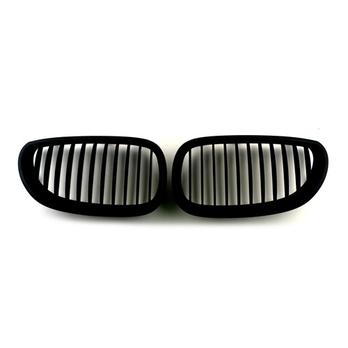 BMW Matte Black Front Kidney Grills for 5 Series E60 03-10