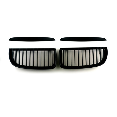BMW Matte Black Front Kidney Grills for 3 Series E90