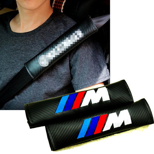 BMW M Power Sport Car Seat Belt Shoulder Pads