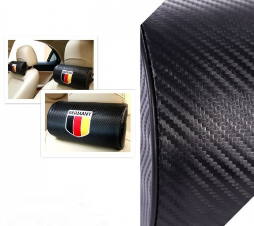 Flag of Germany Carbon Fiber Leather Seat Headrests