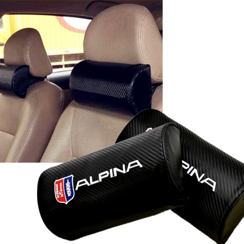 BMW Alpina Carbon Fiber Leather Seat Headrests