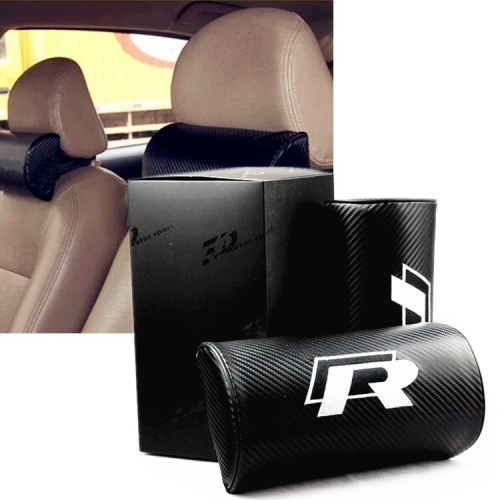 VW R Line Carbon Fiber Leather Seat Headrests