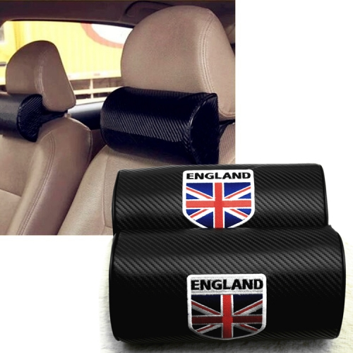 Union Jack Carbon Fiber Leather Seat Headrests