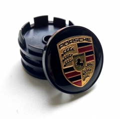 PORSCHE Crest Wheel Center Caps 60mm(56mm) Black