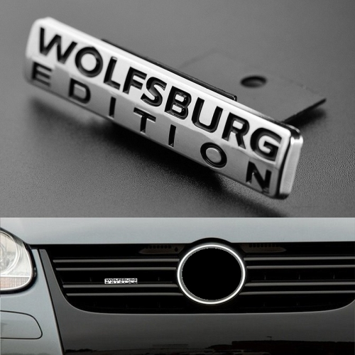 "Volkswagen VW ""WOLFSBURG EDITION"" Emblem for Grille"