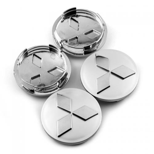 MITSUBISHI Lancer Wheel Center Caps 60mm(54mm) Silver #4252A060