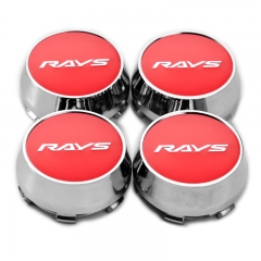 RAYS Wheel Center Caps 60mm(56mm) Red