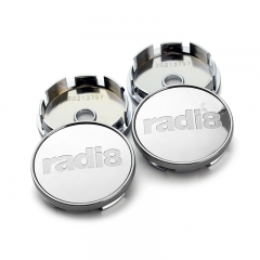 RADI8 Wheel Center Caps 60mm(56mm) Silver