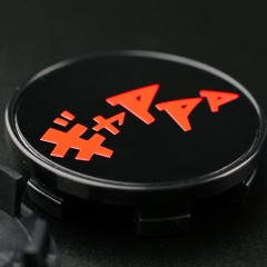Initial D Racing Wheel Center Caps 54mm(50mm) Sound of Car Drift Japanese Characters