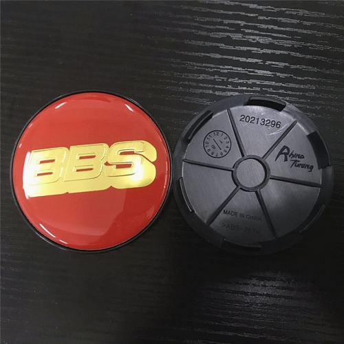 BBS LM Wheel Center Caps 68mm(62mm) Red