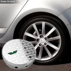 SKODA vRS Wheel Center Caps 55mm(52mm) Silver