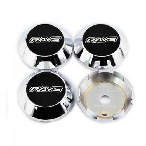 RAYS Rota Slipstream ADVAN RS II Konig Feather  Wheel Center Caps 68mm(62mm) Chrome