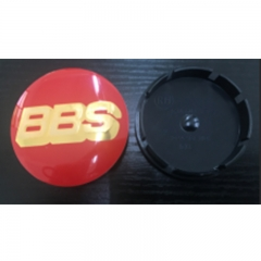 BBS Wheel Center Caps 55mm(52mm) Red