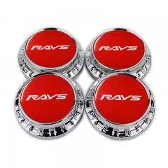 RAYS Volk Racing Wheel Center Caps 67mm(62mm) Red