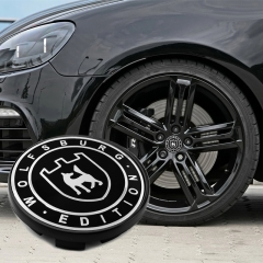 VW Wolfsburg Edition Wheel Center Caps 66mm(56mm) Black #3B7601171