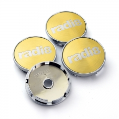 RADI8 Wheel Center Caps 60mm(56mm) Gold