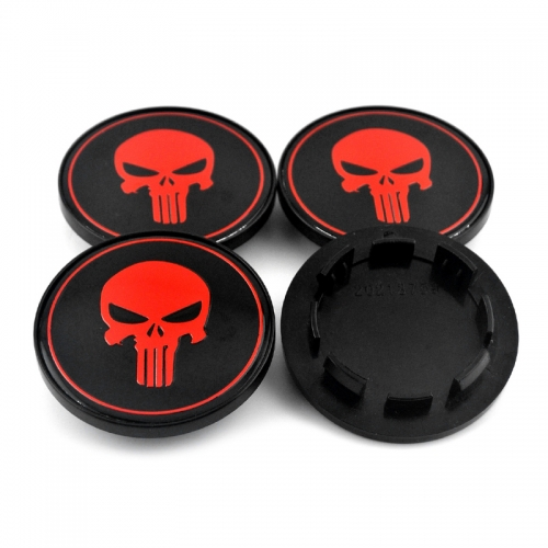 LAND ROVER Punisher Wheel Center Caps 60mm(56mm) Red