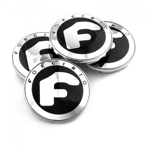 Forgiato Wheel Center Caps 68mm(62mm) Chrome