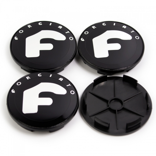 Forgiato Wheel Center Caps 68mm(62mm) Black
