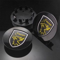 PORSCHE Yellow Bird Wheel Center Caps 77mm(60mm) Black