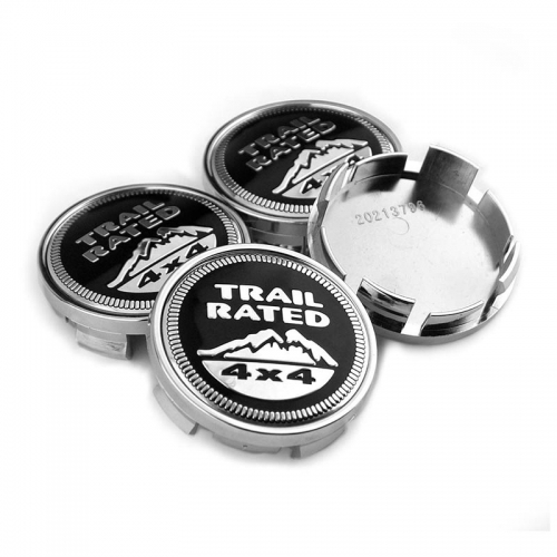 JEEP Trail Rated 4x4 Wheel Center Caps 63mm(59mm)