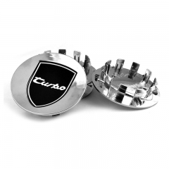 PORSCHE Wheel Center Caps 77mm(60mm) Turbo Sign Chrome