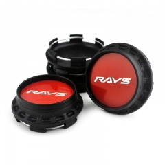RAYS Wheel Center Caps 67mm(62mm) Red