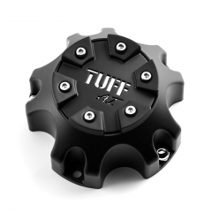 TUFF All Terrain Wheel Center Caps 113mm Black 5 Lug Nuts
