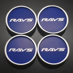 RAYS Wheel Center Caps 50mm(45mm) Blue
