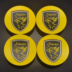 PORSCHE Yellow Bird Wheel Center Caps 77mm(60mm) Yellow