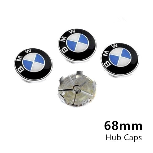 BMW Wheel Center Caps 68mm(65mm) Blue White