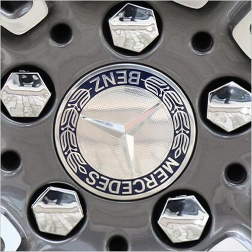 Mercedes Benz Laurel Wreath Wheel Center Caps 75mm(70mm) Blue #2204000125