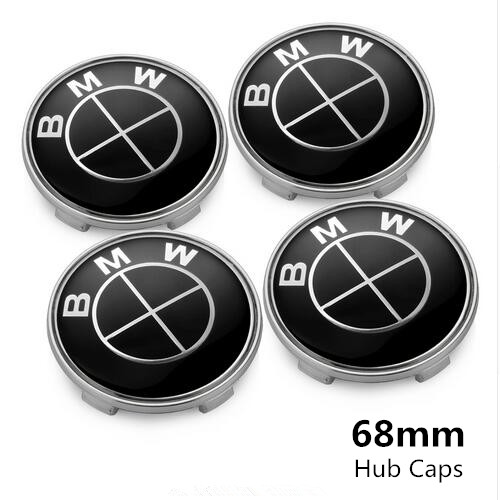 BMW Wheel Center Caps 68mm(65mm) Black