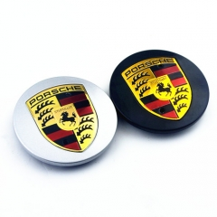 PORSCHE Crest Wheel Center Caps 75mm(65mm) Black